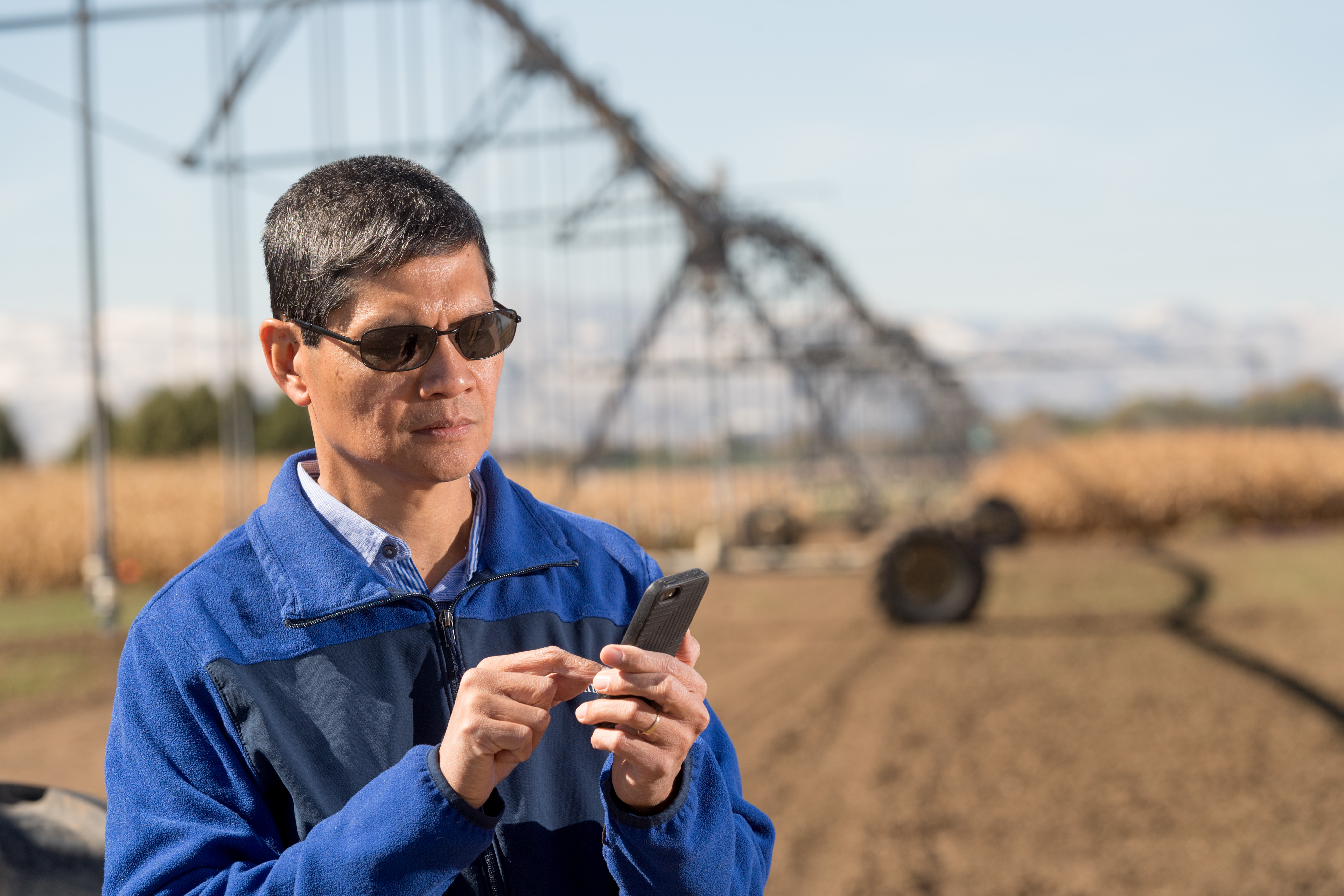 Irrigation scheduling from a smart phone